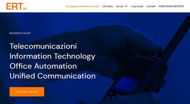 digitaltown realizza il sito ertsrl.it