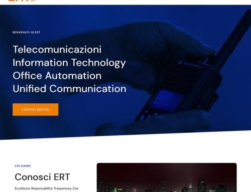 Rifacimento del sito ertsrl.it